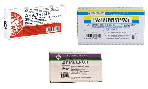 Препараты назначаются в виде укола в одном шприце для снижения жара, а также при хирургических вмешательствах и травмах