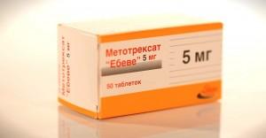 Упаковка таблеток метотрексат»)