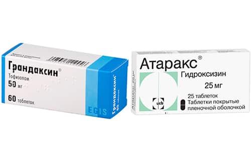 Для снижения тревожности можно применять Атаракс или Грандаксин