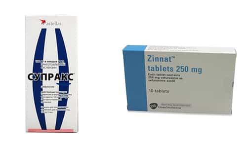 Зиннат и Супракс применяются при лечении заболеваний, вызванных бактериальной флорой