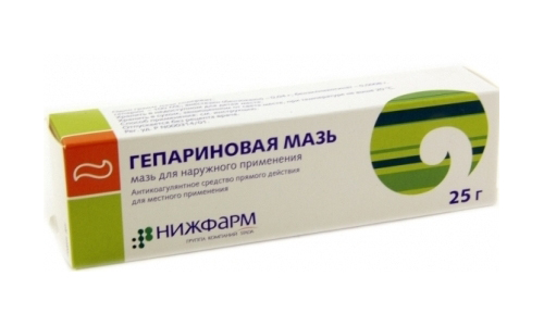 Для терапии острого тромбофлебита могут назначить Гепариновую мазь