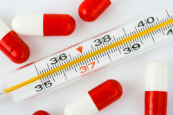 Высокая температура - симптом лямблий в крови