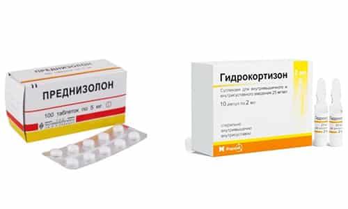 Для лечения надпочечниковой недостаточности часто применяются лекарственные средства из группы глюкокортикоидов Гидрокортизон или Преднизолон